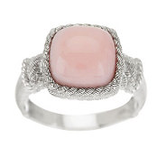 Judith Ripka Sterling Pink Opal Cabochon Textured Ring - J269800