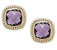As Is Checkerboard Faceted Gemstone Stud Earrings,14K - J277000