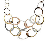 RLM Studio Sterling, Brass and Bronze Niagara Falls Bib Necklace - J280000