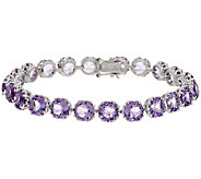 100-Facet Gemstone 8 Sterling Tennis Bracelet, 24.00 ct tw - J287100