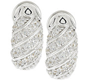 JAI Sterling 2.00cttw Pave Diamonique Earrings - J289200
