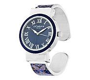 Liz Claiborne New York Paisley Printed Bangle Watch with Tonal Dial - J290200