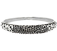 Stainless Steel Scattered Crystal Bangle - J291600
