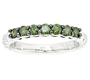 7-Stone Braided Color Diamond Ring, Sterling, 1/2 cttw, by Affinity - J293700