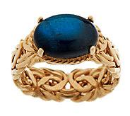 14K Gold Labradorite DoubletCabochon Byzantine Ring - J295200