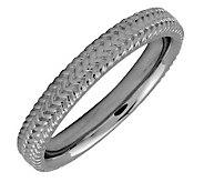 Simply Stacks Sterling Black Rhodium-Plated 3.25mm Braid Ring - J298100