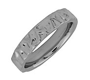 Simply Stacks Sterling Black Rhodium-Plated Wave 4.25mm Ring - J299000