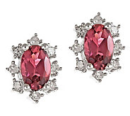 Pink Tourmaline & Diamond Earrings14K White Gold - J308200