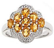 Sterling Oval Gemstone Cluster Ring - J309000