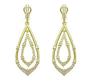 Judith Ripka Sterling Diamonique Teardrop Earrings, 14K Clad - J313700