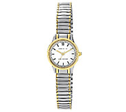 Anne Klein Womens Two-Tone Expansion Band Watch - J316300