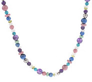 Carolyn Pollack Sterling Te Amo Adj. Beaded Necklace - J31800