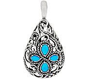 Carolyn Pollack Sleeping Beauty Turquoise Sterling Silver Enhancer - J320100