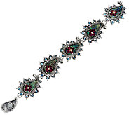 Barbara Bixby Sterling & 18K Gemstone Paisly 6 1/2 Bracelet - J322500