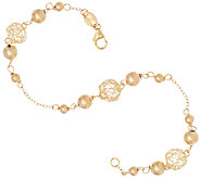 EternaGold 8 Open Work Bead Bracelet 14K Gold, 2.4g - J323000