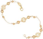 EternaGold 8 Open Work Bead Bracelet 14K Gold, 2.4g - J323000