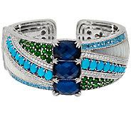 Judith Ripka Sterling Multi-Gemstone Cuff Bracelet - J323900