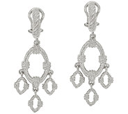 Judith Ripka Sterling Textured Drop Earrings - J325100