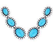 As IsGraziela Gems Sleeping BeautyTurquoise Sterling Ear ClimberEarrings - J326400