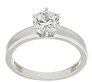 Diamonique 1.00 cttw Solitaire Ring, Platinum Clad - J326500