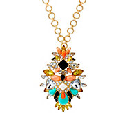 Joan Rivers Crystal Melange Pendant with 30 Chain Necklace - J327400