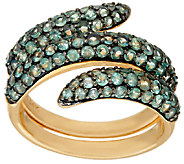 As Is Alexandrite Pave Wrap Design Ring, 14K, 2.20ct tw - J327700