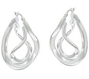 UltraFine Silver Twisted Hoop Earrings - J329300