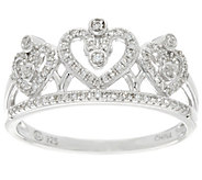 Crown Design Diamond Ring, Sterling, 1/5 cttw, by Affinity - J329700
