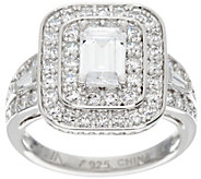 TOVA for Diamonique Emerald Cut Ring, Sterling - J330800