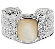 As Is Artisan Crafted Sterling Bold Mother-of-Pearl Cuff - J332900
