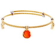 DeLatori Goldtone Cable Bracelet w/ Multi Gemstone Charms - J334400