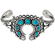 Kingman Spiderweb Turquoise Naja Cuff by American West - J335900