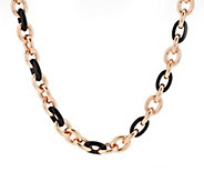 As Is Bronze 24 Gemstone Rolo Link Necklace by Bronzo Italia - J346900