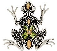 Barbara Bixby Sterling & 18K Gemstone Frog Enhancer - J347400