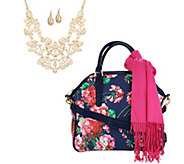 Charming Charlie Floral Jewelry & Accessory Set - J347500
