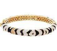 Lauren G Adams Enamel Zebra Motif Hinged Bangle - J354100