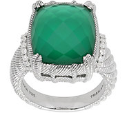 Judith Ripka Sterling Green Goddess Doublet Diamonique Ring - J381200