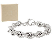 Bronze Solid Bold Textured Rope Chain Bracelet by Bronzo Italia - J400000