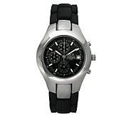 Gino Franco Mens Round Chronograph Black Bracelet Watch - J105701