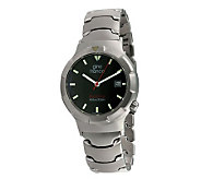 Gino Franco Unisex Black Dial Stainless Steel Bracelet Watch - J107101