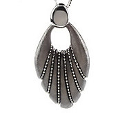 Arte DArgento Sterling Bead Wrapped Fan Pendant with 18 Chain - J152501