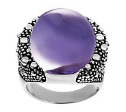 Michael Dawkins Sterling Starry Night Amethyst Oval Doublet Ring - J280201