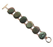 As Is Honora 8 Mother-of-Pearl Oval Cabochon Bronze Bracelet - J286101