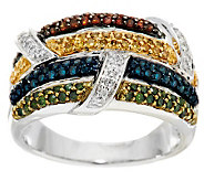 Multi-Color Diamond Ring Sterling 1/2 cttw by Affinity - J286401
