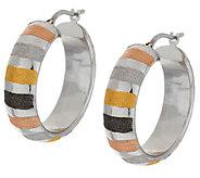 Vicenza Silver Sterling 1 Multi-Color Round Hoop Earrings - J289701