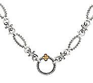 Barbara Bixby Sterling & 18K Textured Link 18-1/2 Necklace - J289801