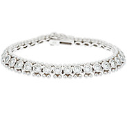 Diamonique 100-Facet Bezel Set Bead Design Tennis Bracelet - J290101