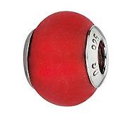 Prerogatives Sterling Red Matte Italian MuranoBead - J300401