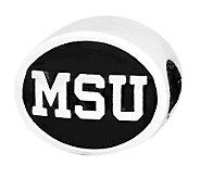 Sterling Silver Michigan State University Bead - J300701