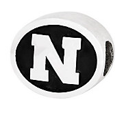 Sterling Silver University of Nebraska Bead - J300801